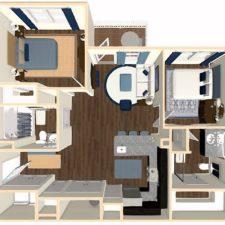 Interior Unit Floorplan (Click To Enlarge)